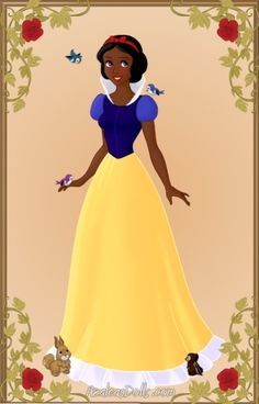 Princess Snow White -- Our Favorite Disney Princesses Transformed Into Women Of Color. http://www.huffingtonpost.com/2012/07/30/disney-princesses-made-into-women-of-color_n_1721336.html?utm_hp_ref=women=Women#slide=1303596