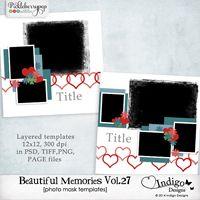 Beautiful Memories Templates Vol.27