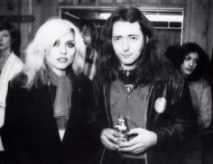 barleygraperag:  Debbie Harry and Rory Gallagher (NY 1979) Photo by Mick Rock.