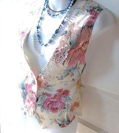 Womens Victorian Waistcoat  Vest Bohemian by GLAMOURGIRLCHIC, $25.00