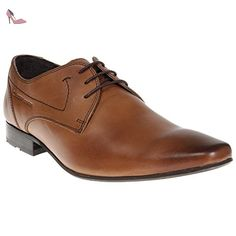 Base London Eastfields hommes Cuir Chaussures - Tan - SIZE EU 42 - Chaussures  base london