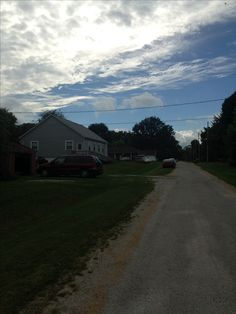 Country road, Raymond, Illinois.