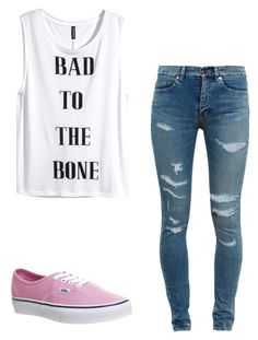 """Untitled #141"" by lovecas ❤ liked on Polyvore featuring Vans, Yves Saint Laurent and H&M"