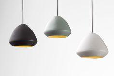 Ross Gardam, Glaze: a stoneware pendant light. Black Shadow, Cool Diy, Pendant Lighting, Contemporary Design, Stoneware, Glaze, Ceiling Lights, Home Decor, Inspiration