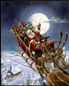 Santa's on his way