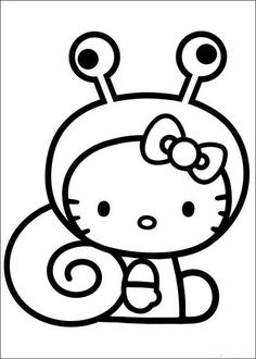 Free Printable Kitty Coloring Pages for Kids.this time in Hello Kitty Coloring Pages, we bring entertainment and joy to the children in drawing and coloring activities Spring Coloring Pages, Easy Coloring Pages, Free Coloring Sheets, Coloring Pages For Girls, Cartoon Coloring Pages, Mandala Coloring Pages, Printable Coloring Pages, Coloring Books, Hello Kitty Drawing