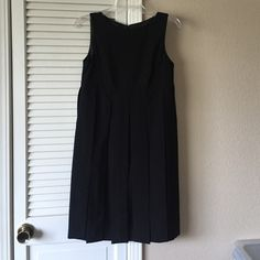 Cabi pleated dress Black dress with flowey panels that only attach at the end CAbi Dresses