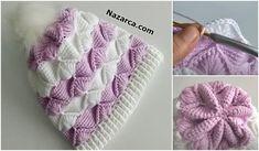 ŞİŞ ÖRGÜ İLE PİLOT ÇOCUK ŞAPKASI ÖRMEK   Nazarca.com Baby Knitting Patterns, Crochet Hats, Tricot, Beanie Babies, Caps Hats, Crocheting, Dots, Tejidos, Manualidades