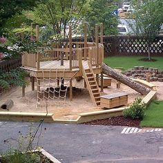 "Tree Decks around a new tree that will grow out to make a large shade leafy ""r… – Natural Playground İdeas Kids Outdoor Play, Outdoor Play Spaces, Kids Play Area, Backyard For Kids, Backyard Projects, Outdoor Projects, Outdoor Fun, Natural Outdoor Playground, Outdoor Yard Games"