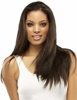 EasiXtend by easihair... Blow dry, crimp and curl this heat defiant five-piece set of clip in hair extensions to add seamlessly blended, natural looking length. easiXtend HD5 will revolutionize your styling options. Recommended for fine, thin hair.