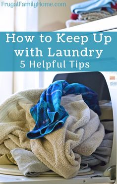 I love these laundry hacks. These keeping up with laundry tips are really helpful and easy to do too. Never have to face another mountain of laundry again.