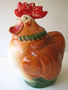 Vintage rooster cookie jar!