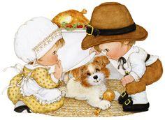 peeking puppy thanksgiving kids