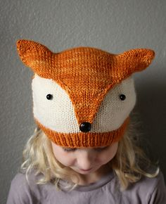Ravelry: nevernotknitting's Foxy Designer Knitting Patterns, Baby Hat Knitting Pattern, Loom Knitting, Knitting Designs, Knitting Projects, Crochet Baby Sweaters, Knitted Hats Kids, Knitted Blankets, Knit Crochet