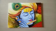 Ideas for basket christmas simple Kerala Mural Painting, Indian Art Paintings, Modern Art Paintings, Krishna Art, Baby Krishna, Krishna Images, Lord Krishna, Oil Pastel Art, Ganesha Painting