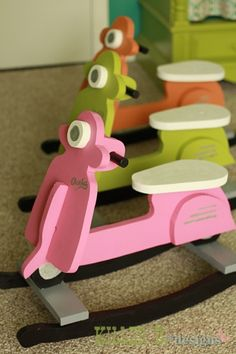 Vespa rockers. Totally buying these for my babies so they can be like their mommy.