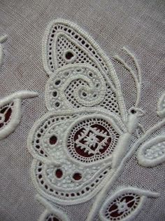 Beautiful white work butterfly, very elegant and beautifully stitched