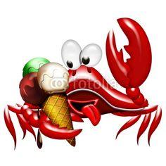 Crab with Ice Cream  © Bluedarkat