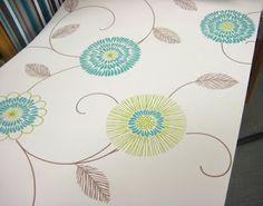 interesting stylized flower pattern