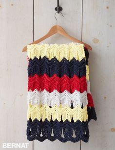 Seashells By The Seashore Crochet Blanket - Free Crochet Pattern - (yarnspirations)