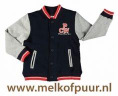 Mooi deels gevoerd jack met navy basis en grijze mouwen - Met rode biesen