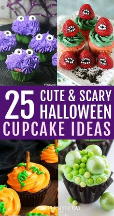 25 Best Halloween Cupcake Ideas For Kids Easy: Are you looking for delicious Halloween cupcakes for kids simple, for example easy Halloween cupcake decoration, cute Halloween cupcakes easy, scary Halloween cupcakes or simple Halloween cupcake ideas easy? There's even more Halloween treats desserts, easy halloween treats for kids, halloween treat ideas & halloween desserts for parties to choose from! #halloweencupcakes #halloweencupcakeideas #halloweentreats #halloweendesserts