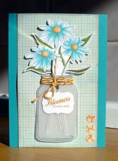 love this vellum jar-cute Mother's Day card idea or May Day for my SP