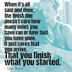 "The finish line - ""I press toward the mark...."" - The Apostle Paul"