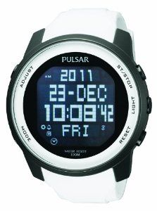 Pulsar Men's PQ2015 Classic Digital Watch Pulsar. $92.06. Water-resistant to 100 M (330 feet). Digital. Mineral crystal. White urethane strap. Day/date. Save 50%!