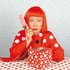 Yayoi Kusama and her dots Angelique de Paris Rouge Board
