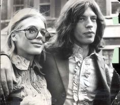 Jagger, aged 25, and Marianne Faithfull, aged 22. They were appearing at court on a charge of possessing cannabis