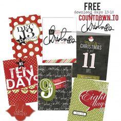 Free #HSBelieve Count Down to Christmas Printable #HeidiSwapp