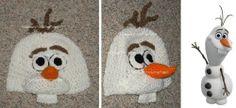 Crocheted Disney Frozen Olaf Snowman Hat