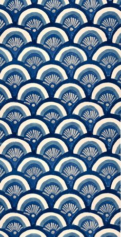 Beautiful patterns in ocean blues. Pretty Patterns, Beautiful Patterns, Color Patterns, Floral Patterns, Graphic Patterns, Motifs Textiles, Textile Patterns, Surface Pattern Design, Pattern Art