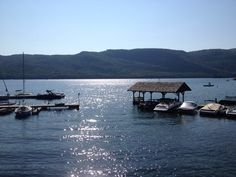 Silver Bay boat docks, Lake George New York