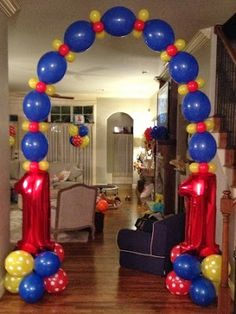 Carnival Party Kids Birthday Party Balloon Decorations balloon decorated cake: use small water balloon sized balloons. Balloon Decorations Party, Birthday Decorations, Circus Birthday, Girl Birthday, Birthday Ideas, Balloon Birthday, Birthday Cake, Deco Ballon, Balloon Columns
