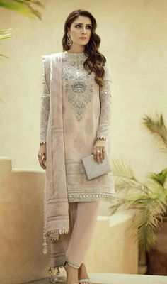 Pakistani Party Wear Embroidered Shirts 2018-2019 Latest Designs ... 86299a7ad