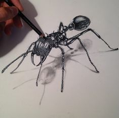 Been drawing insects with Markers and Pencil crayons. Here's an Ant! - Imgur