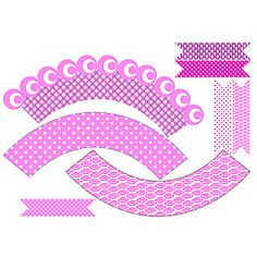 <3 Cupcake Wraps, Cupcake Art, Party Printables, Free Printables, Subway Art, Love Craft, Miniatures, Paper Crafts, Diy