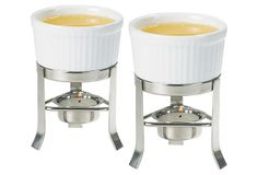 Lobster Bake  Butter Warmer Set with Stainless Stands  $9.00