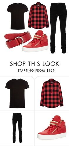 """Kendall"" by ariartist-1513 on Polyvore featuring John Smedley, AMI, AMIRI, Giuseppe Zanotti, Felisi, men's fashion and menswear"