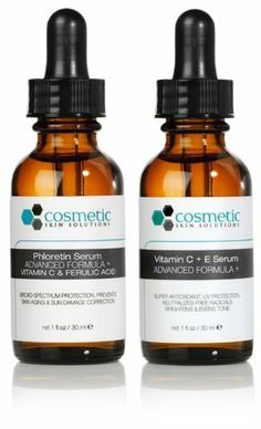 Phloretin Serum + Vitamin C+E Serum Advanced Formula +. Preventative topical Vitamin C - 2 Combo Pack - 1 fl oz / 30 ml each. by Cosmetic Skin Solutions LLC. $75.95. Store in cool, dry place, absent to light. For combo pack pricing discounts, please scroll below.. Vitamin C+E Serum is the best combination antioxidant treatment for age prevention ever available in the cosmetic market. This breakthrough technology treatment combines 15% pure L-Ascorbic Acid (Vit C), 1% Alpha To...