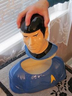 Spock cookie jar. Must have in my star trek kitchen