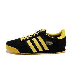 premium selection c8d33 0f7b9 Adidas Dragon Yellow Black Trainers