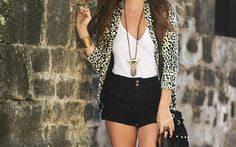 Never mind leopard shorts, moving on the the blazer that I can pair with black leather shorts!!  Badass!
