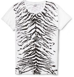 53400a0a780 Saint Laurent Zebra-Pattern Cotton-Jersey T-Shirt