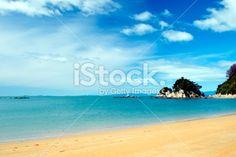 Torlesse Rock & Little Kaiteriteri Bay, Tasman, New Zealand Royalty Free Stock Photo