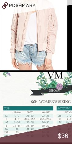 Blush bomber jacket Beautiful creamy blush color for the girls that don't like pink but still have to be at the top of trend and fashion Cotton True to Not lined Perfect for layering up Jackets & Coats Utility Jackets
