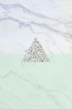 Wallpaper iPhone - marble granite mint
