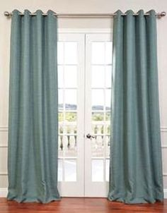"""$8 per panel amazon. Gorgeous Home (#32) 1 PANEL SOLID TEAL BLUE THERMAL FOAM LINED BLACKOUT HEAVY THICK WINDOW TREATMENT CURTAIN DRAPES SILVER GROMMETS * AVAILABLE IN DIFFERENT SIZES * (84"""" LENGTH)"""